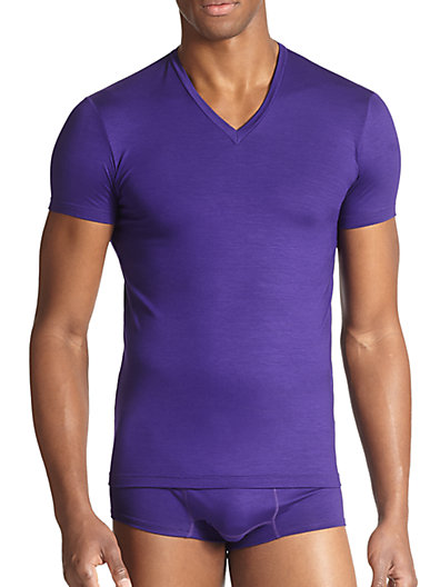 Dsquared2 Slim Fit Jersey V-neck Tee In Purple