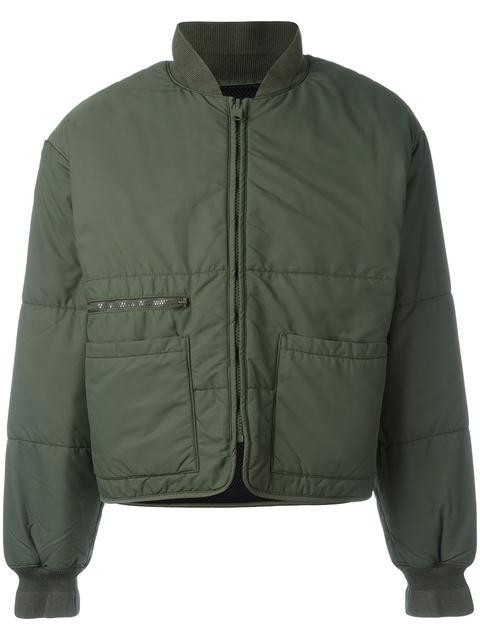 Yeezy Season 3 Puffer Bomber Jacket In Green