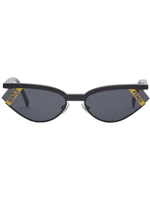 Fendi Women's Gentle Monster X  Cat Eye Sunglasses, 61Mm In F0G8T-Black+Yellow