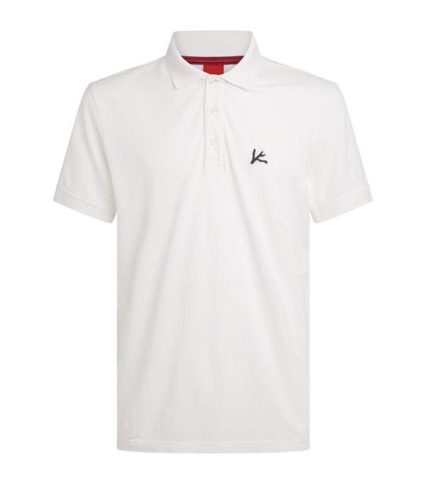 Isaia Logo Embroidered Polo Shirt In White