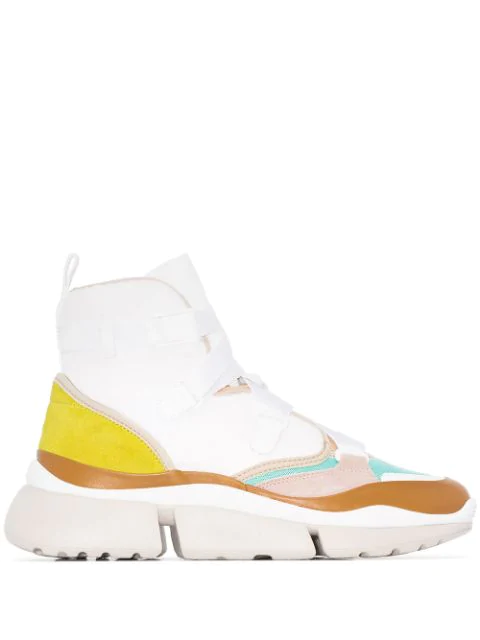 ChloÉ 'Sonnie' Chunky Outsole Low Top Patchwork Sneakers In 119