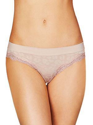 Stella Mccartney Floral Lace Trimmed Bikini Panty In Peony