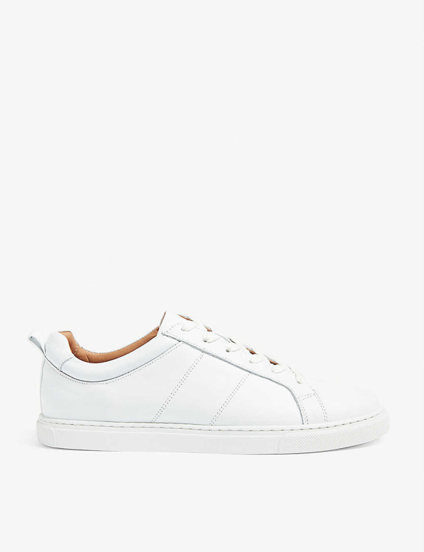 Whistles Women's Folly Leather Lace Up Sneakers In White