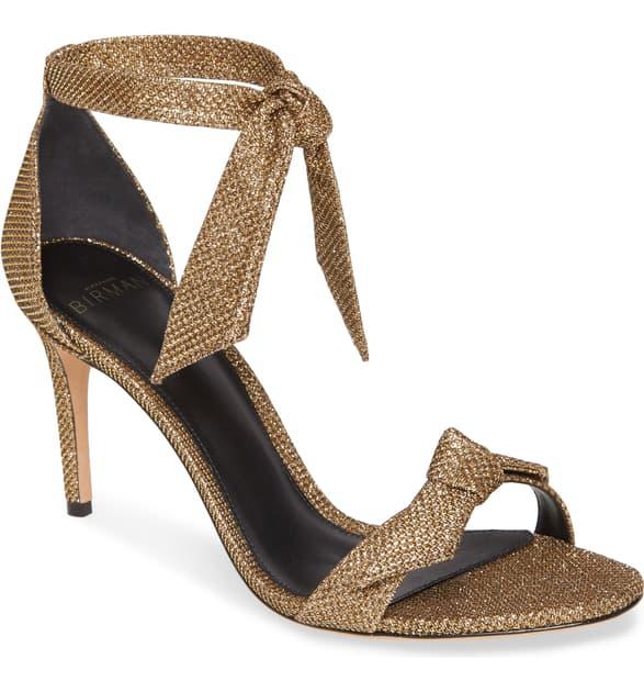 Alexandre Birman Clarita Ankle Strap Sandal In Gold