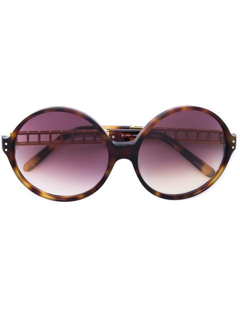 Linda Farrow Oversized Sunglasses In Brown