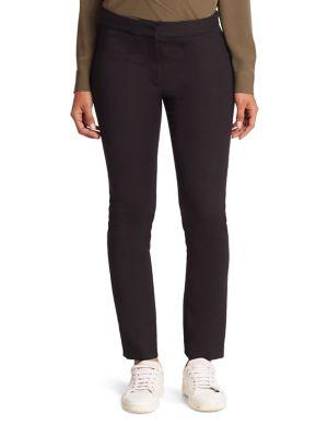 Diane Von Furstenberg Jodie Cotton Blend Pants In Black