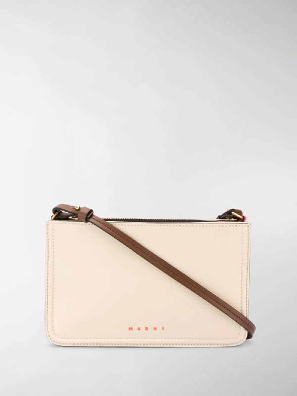 Marni Beat Leather Shoulder In White