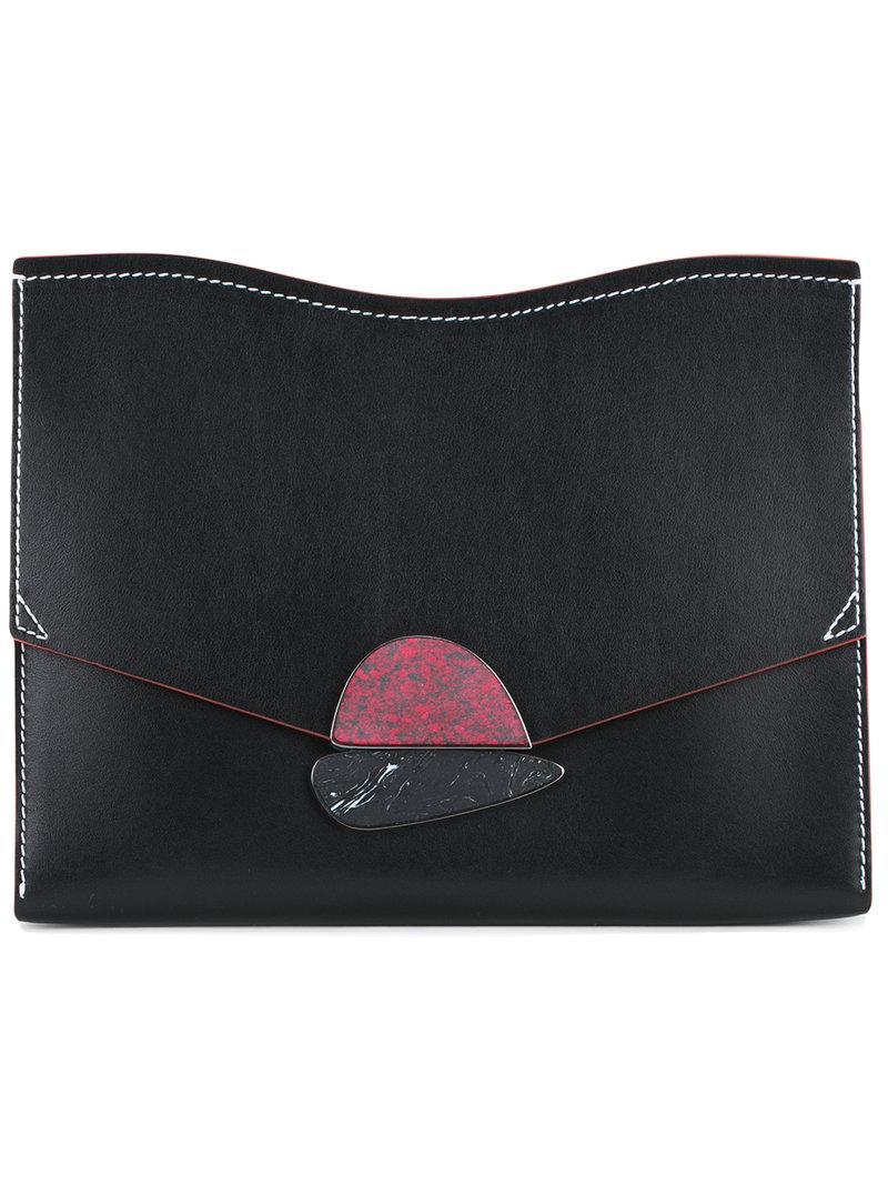 Proenza Schouler Medium Calfskin Leather Clutch - Black