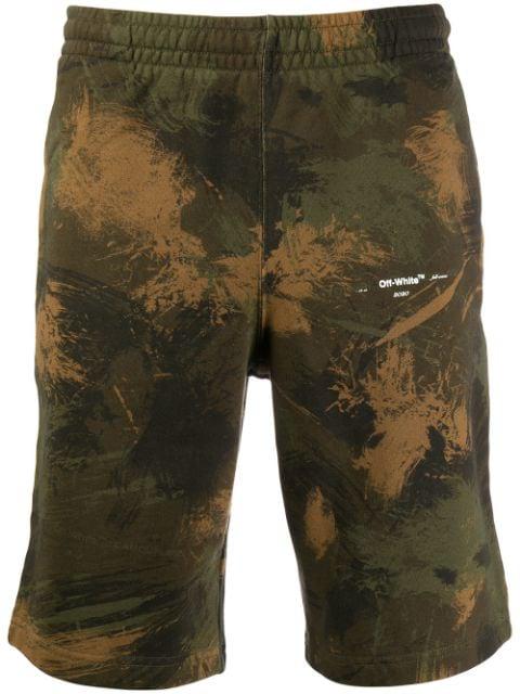 Off-white Bermuda Shorts In Green