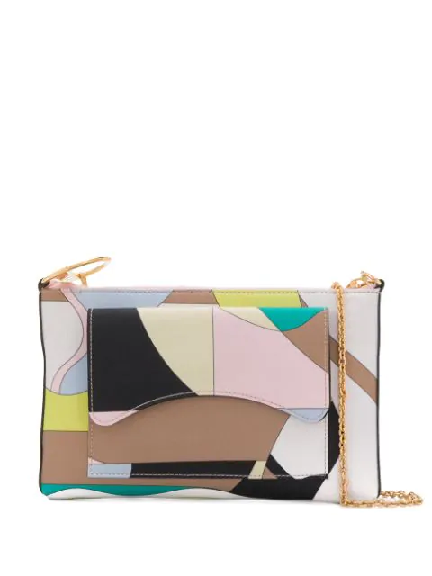 Emilio Pucci Vallauris Print Shoulder Bag In Green