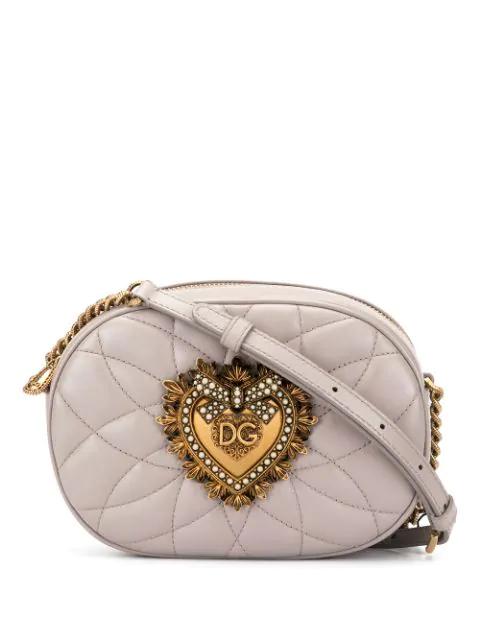 Dolce & Gabbana Devotion Camera Bag In Brown