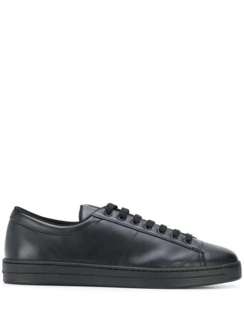 Prada Low-top Logo Detail Sneakers In F0002 Black