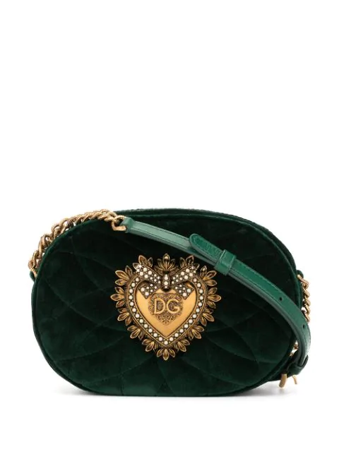 Dolce & Gabbana Devotion Camera Bag In Green