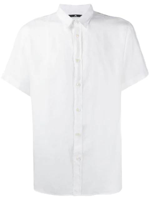 J.lindeberg Short-sleeved Daniel Shirt In White