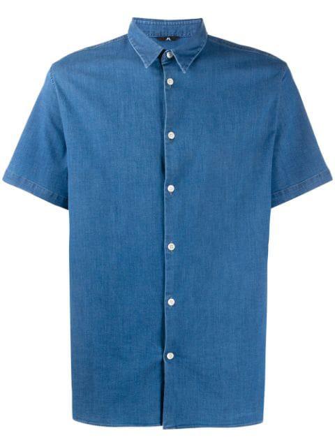 J.lindeberg Daniel Denim Shirt In Blue