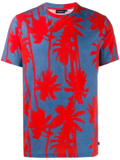 J.lindeberg Silo Printed T-shirt In Red