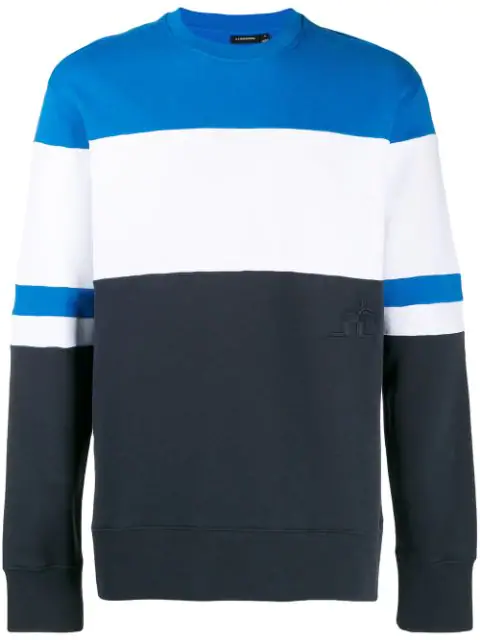 J.lindeberg Hurl Colour-blocked Sweatshirt In Blue