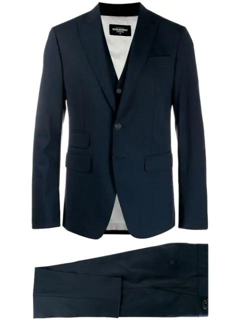 Dsquared2 Three Piece Suit - Blue