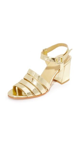 Maryam Nassir Zadeh Palma High Sandals In Gold