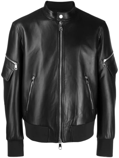 Neil Barrett Varsity Vintage Jacket In 01  Black