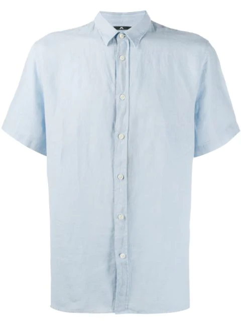 J.lindeberg Short-sleeved Daniel Shirt - Blue