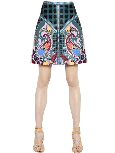 Mary Katrantzou Paisley Printed Twill Skirt In Multicolor