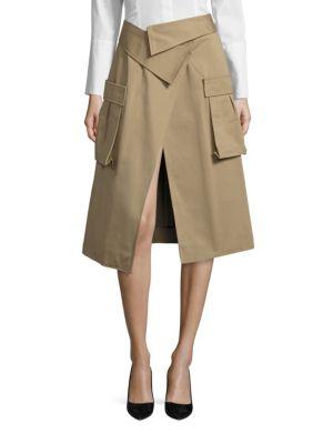 Monse Cotton Canvas Skirt In Khaki