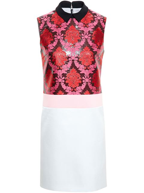Mary Katrantzou Damask Lurex Jacquard & Satin Dress, Multicolor