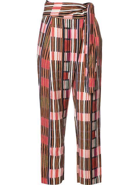 Apiece Apart Isa Printed Wrap Pants In Borderlines Print
