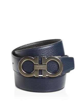 Salvatore Ferragamo Reversible Leather Belt - 100% Exclusive In Blue Marine