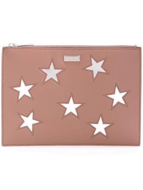 Stella Mccartney Embroidered Stars Clutch Bag