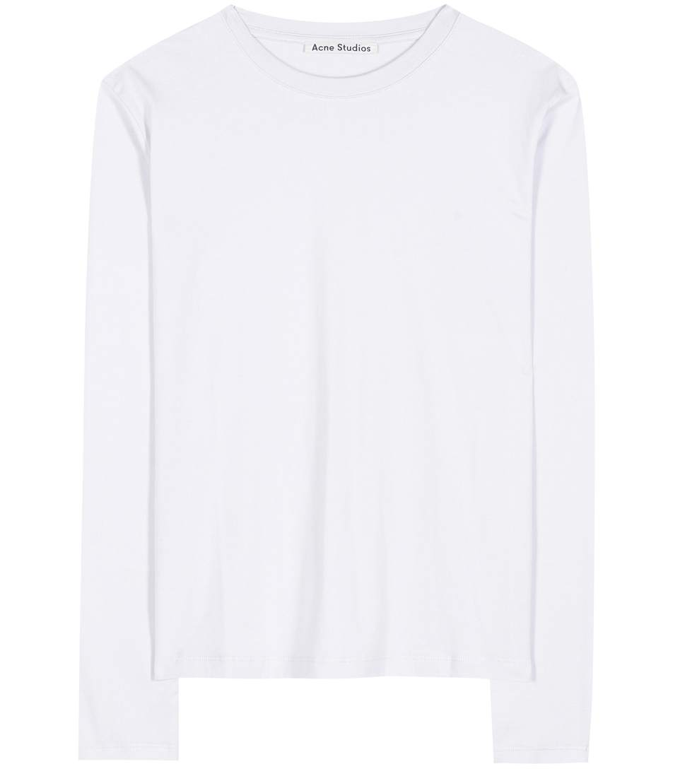 Acne Studios Dayna Cotton Top In Optic White