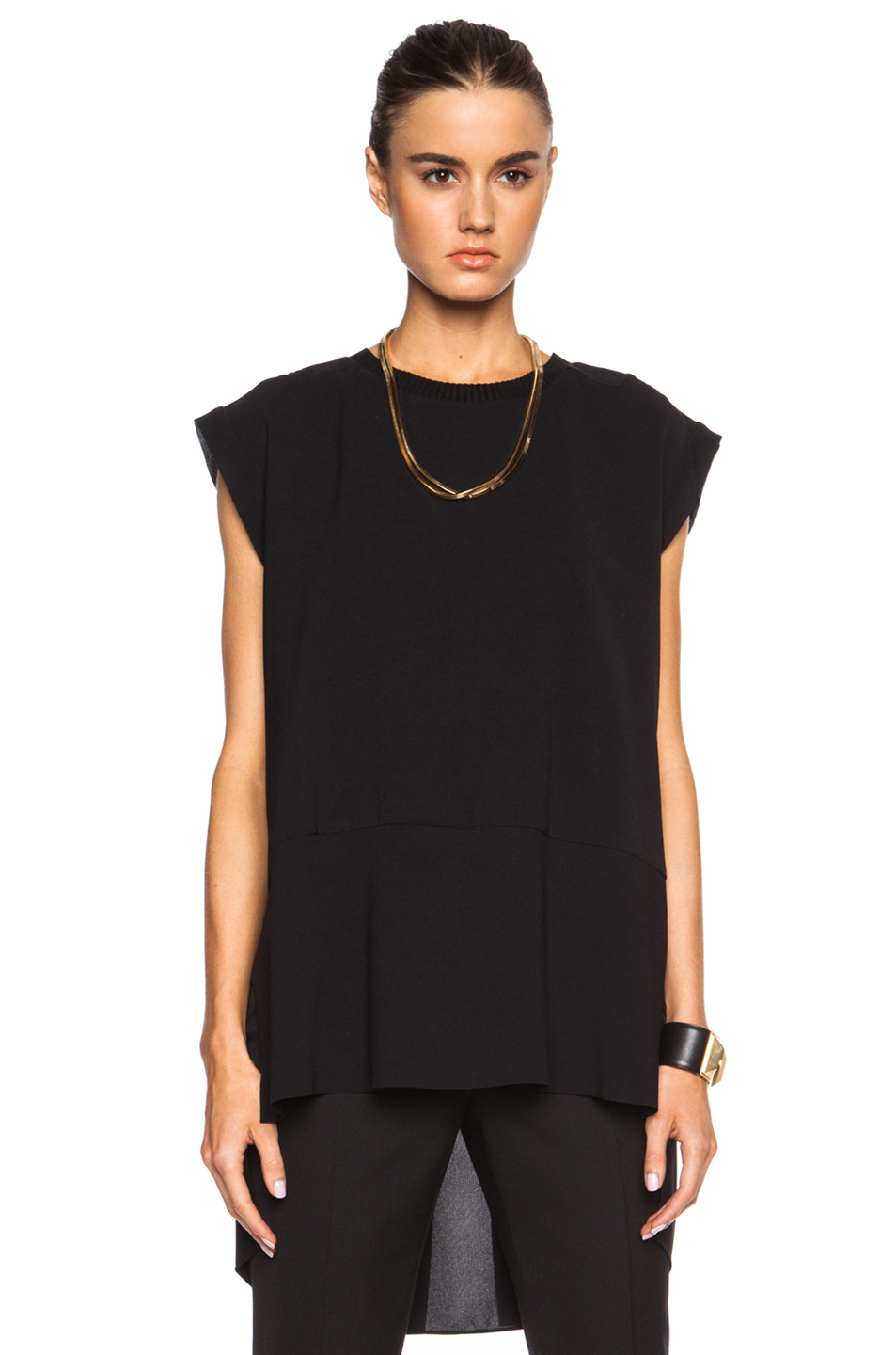 By Malene Birger Grimos Tie-front Stretch-crepe Jumpsuit In Black