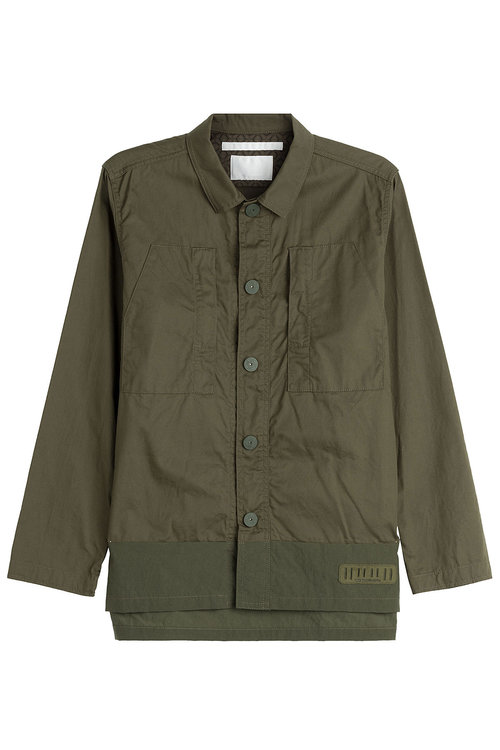 White Mountaineering Cotton Jacket In Green