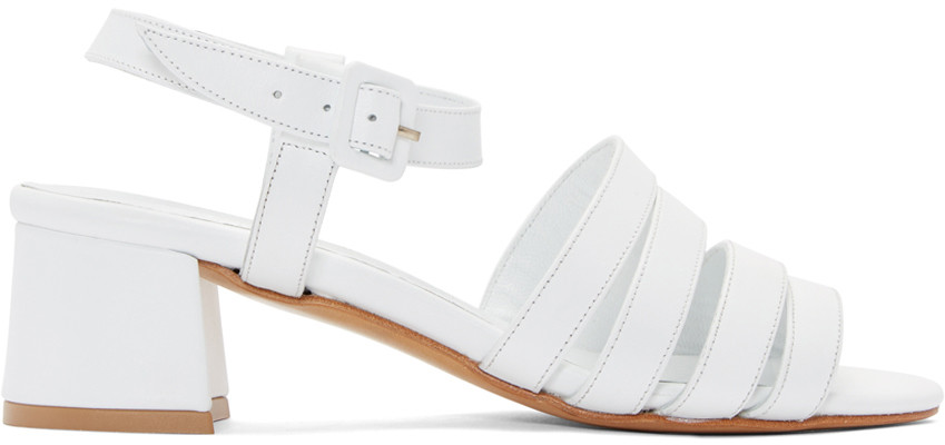 Maryam Nassir Zadeh Palma Low Leather Sandals In White Calf
