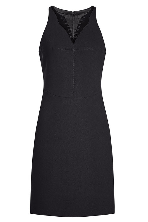 Alexander Wang Dress With Lace-up Front In Black