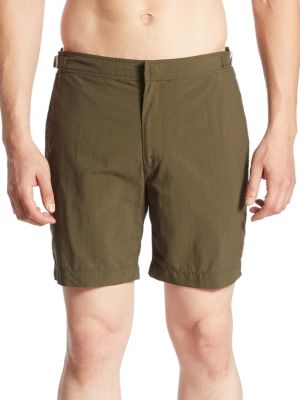 Polo Ralph Lauren Monaco Swim Trunks In Armadillo