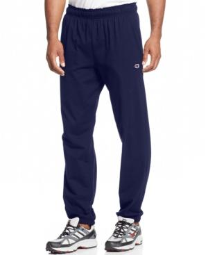 Champion Men's Jersey Banded Bottom Pants In Navy
