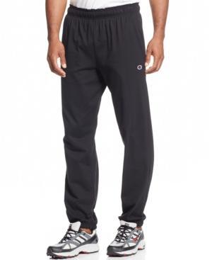 Champion Men's Jersey Banded Bottom Pants In Black