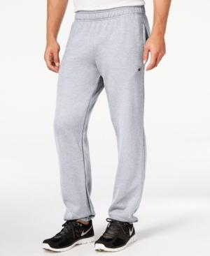 Champion Men's Powerblend Fleece Relaxed Pants In Oxford Gray