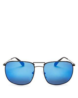 b73c8270cf9 Prada Men s Mirrored Pilot Square Sunglasses