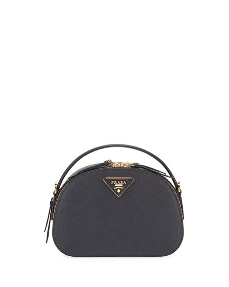 Prada Odette Top-Handle Bag In Black