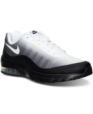 Nike Men's Air Max Invigor Print Running Sneakers From Finish Line In Black/white/cool Grey