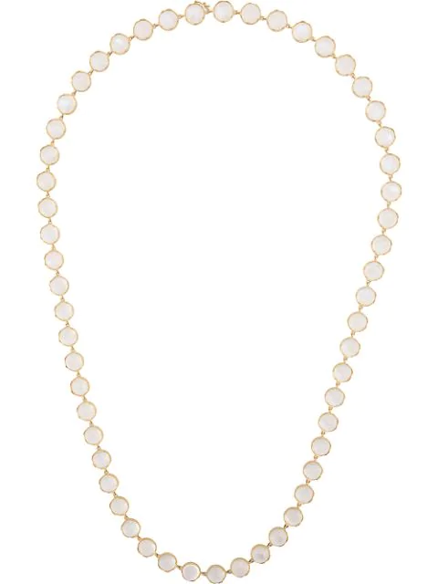 Irene Neuwirth 18kt Yellow Gold Rainbow Moonstone Necklace In White
