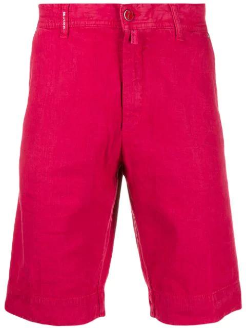 Kiton Bermuda Shorts In 10 Red
