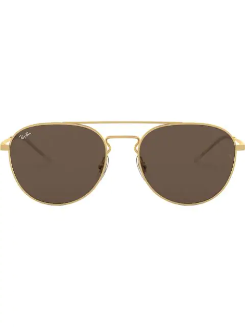 Ray Ban Round-frame Sunglasses In Gold