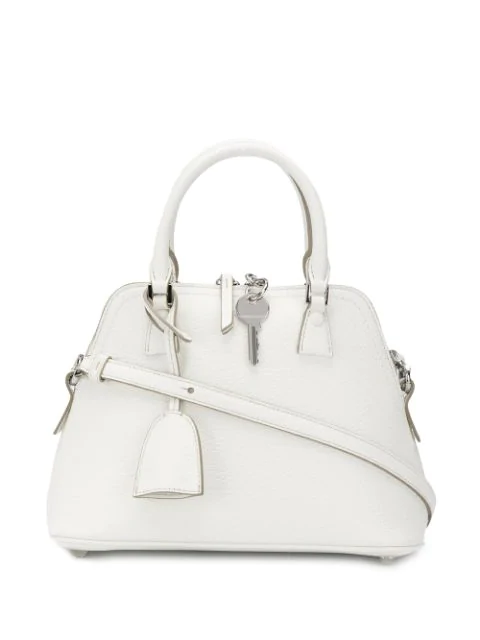 Maison Margiela 5ac White Leather Handbag