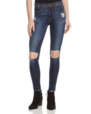 Frame Le Skinny Petal Hem Jeans In Andover - 100% Exclusive In Marlowe