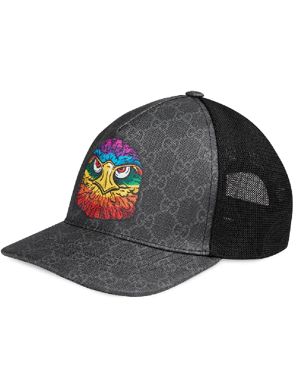 bb58c5f3a Gucci Gg Supreme Baseball Hat With Eagle In Grey | ModeSens