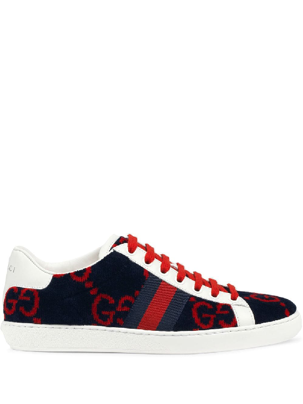 Gucci Women's Ace Gg Terry Cloth Sneaker In Blue